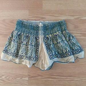 Free People boho flowy shorts small